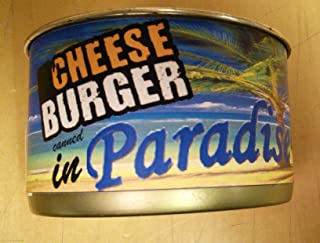Cheese Burger Canned in Paradise Gag Gift
