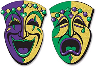 Beistle 54550 2-Pack Jumbo Glittered Comedy and Tragedy Faces, 24-1/2-Inch