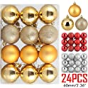 ZOGIN Assorted 24 Piece Christmas Ball Ornaments