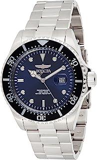 ساعة للرجال بمينا ازرق وسوار ستانلس ستيل من انفيكتا - 22054