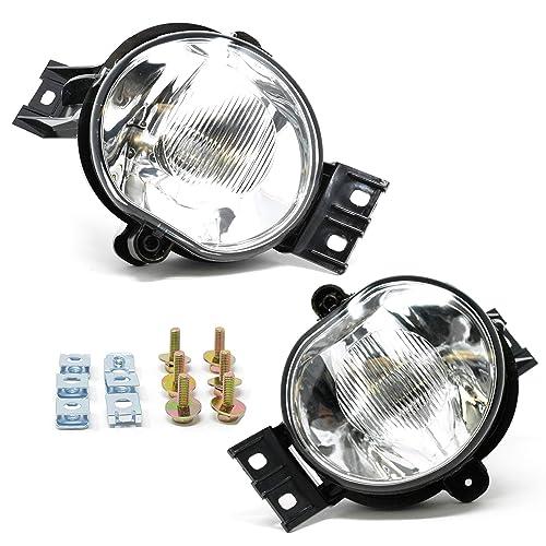 For 2003-2008 Dodge Ram SMOKE Lens Fog Driving Light Kit with Switch Bulbs Bezel