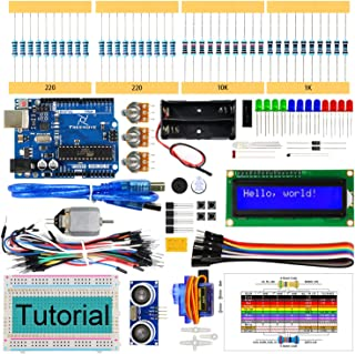 Freenove Ultrasonic Starter Kit with UNO R3 Board (Compatible with Arduino IDE), 139 Pages Detailed Tutorial, 158 Items, 2...