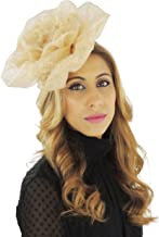 Pretty Large Rose Ascot/Derby Fascinator Hat - with Headband - Available in 40 Colours