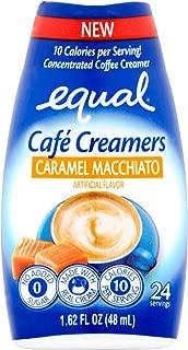 Equal Coffee Creamer Caramel Macchiato Café Simple Squeeze Coffee Creamer Low Sugar Low Calorie, 1.62 fl oz (1 Bottle)