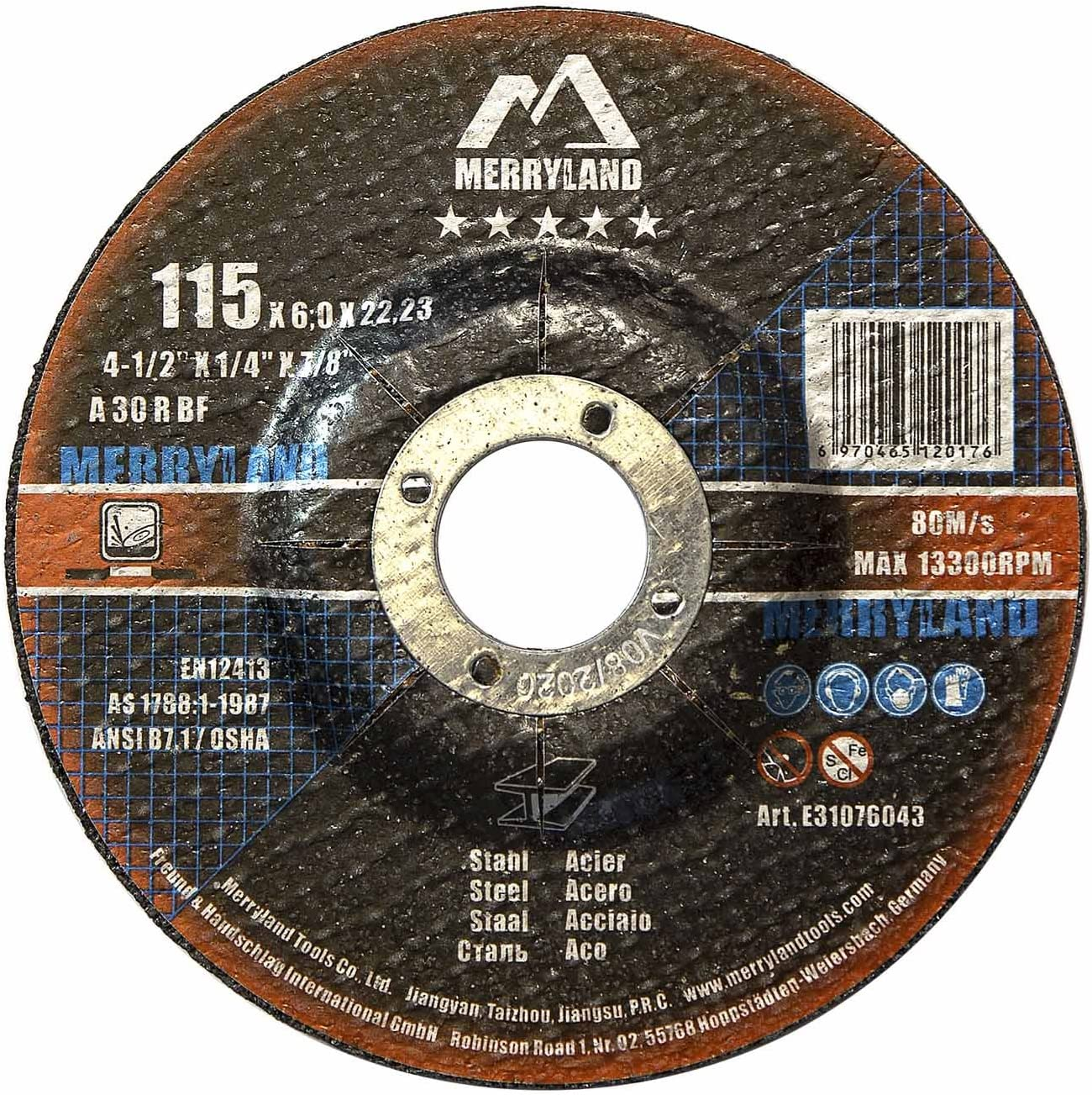 Merryland 4-1 2 X 1 4 Iro Metal Grinding Expert-line Wheel Outlet El Paso Mall sale feature Steel