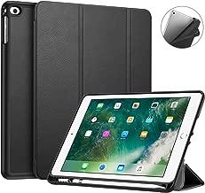 Fintie iPad 9.7 Pollici 2018 2017 Custodia con Built-in Apple Pencil Holder - Sottile Leggero Cover con Auto Sonno/Sveglia la funzione per New Apple iPad 9,7'' 2018/2017, Nero