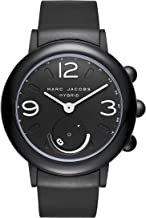 Marc Jacobs Women's Riley Aluminum and Rubber Hybrid Smartwatch, Color: Black (MJT1002)