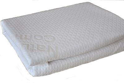 Natural Comfort Protector de colchón hipoalergénico de Alto Rendimiento, Antibacteriano e Impermeable, Barrera Protectora para colchón, Blanco, Doble, 1