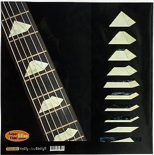 Calcomanías para diapasón con incrustaciones de pegatinas para guitarra y bajo, pirámide – perla blanca