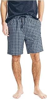 Nautica Men's Soft Woven 100% Cotton Elastic Waistband Sleep Pajama Shorts, J Navy, Medium