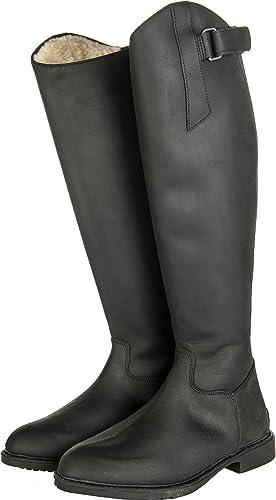 Hkm Hauszapatos para Flex país Cremallera Impermeable estándar Piel equitación botas