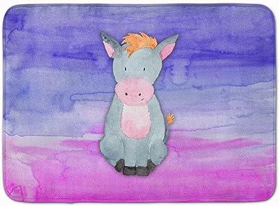 "Caroline's Treasures Donkey Watercolor Floor Mat, BB7415RUG, Multicolor, 19"" x 27"""