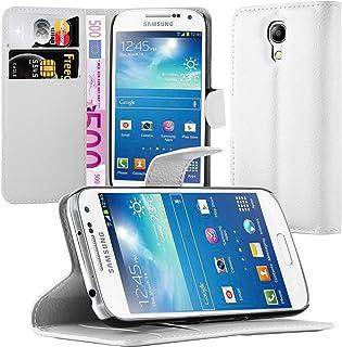 Cadorabo Funda Libro para Samsung Galaxy S4 Mini en Blanco ÁRTICO - Cubierta Proteccíon con Cierre Magnético, Tarjetero y Función de Suporte - Etui Case Cover Carcasa