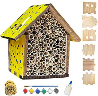 Build a Bee House Kit, DIY Mason Bee House Kit, Outdoor Educational Craft for Ages 12+, Bee Hotel, Garden Decorative Craft