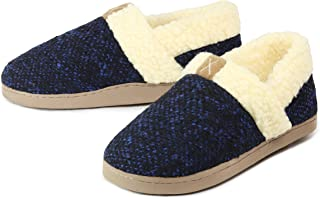 GUMUSSERVI Women's Cozy Memory Foam Slippers Fuzzy Fleece Lining Closed Back House Shoes with Anti- Slip Rubber Sole
