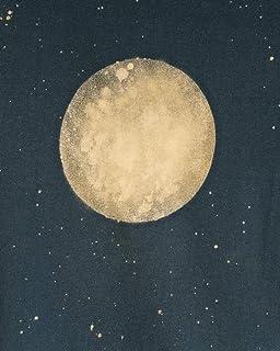 Nuova maglietta da donna fatta a mano con luna di sangue eclissi lunare per regali e tutti i giorni