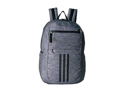 adidas League 3 Stripe Backpack (Jersey Onix/Black) Bags