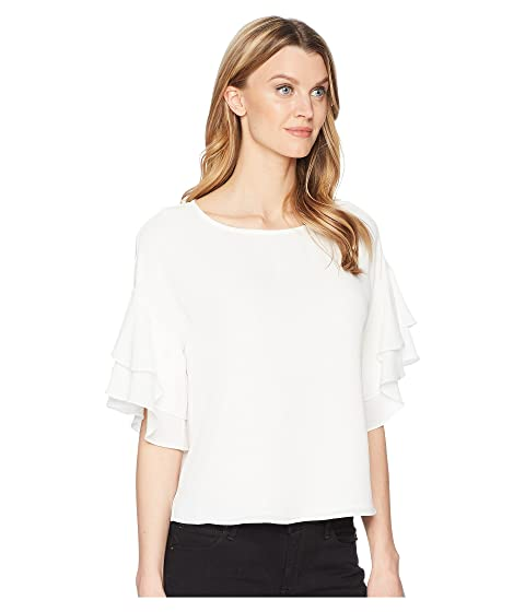 Vince Camuto Drop Shoulder Tiered Sleeve Textured Blouse New Ivory Cheap Sale Best Sale Cheap Ebay Clearance Great Deals Discount Really Cheap Sale Great Deals s2odnM