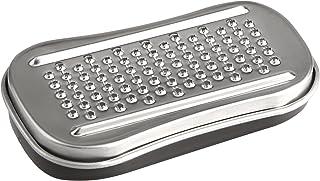 Fackelmann 45430 Râpe Muscade Basic 9,2x5,4x2cm 2 pièces en INOX/PP, Acier Inoxydable, Argent/Transparent, 9,2 x 5,4 x 2 cm