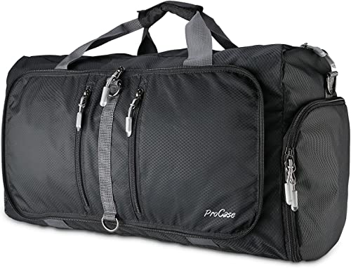 ProCase Foldable Travel Duffel Bag, 40L Waterproof Gym Sports Bag Lightweight Storage Carry Duffle Tote Bag for Lugga...