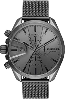Diesel Ms9 Chrono Men's Grey Dial Stainless Steel Analog Watch - DZ4528