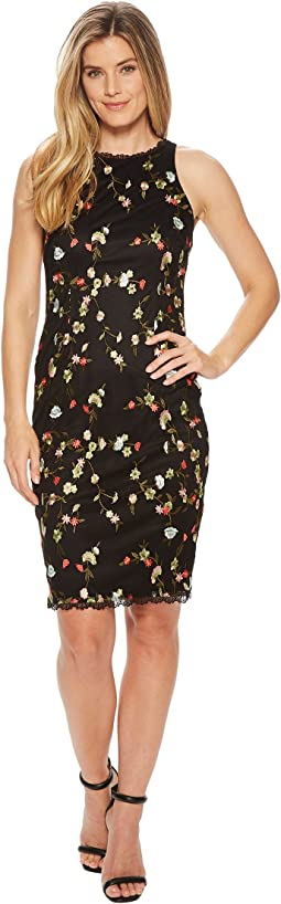 Diana Floral Embroidery Sheath