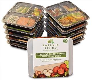 Recipientes para comida preparada, con 3 compartimentos, sin