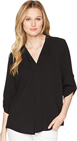 Calvin Klein Roll Sleeve with Inverted Pleat