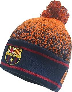 Rhinox FC Barcelona Winter Hat Beanie, Official Barcelona Beanie Orange/Navy