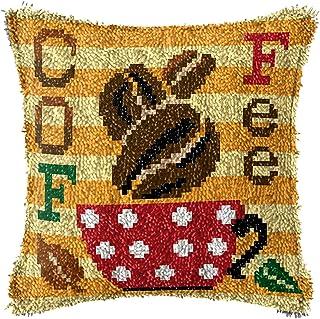 Crochet de loquet Couvercle de bricolage Couvercle de la bricolage imprimé Cafe à café Modèle de broderie Crochet Aiguille...