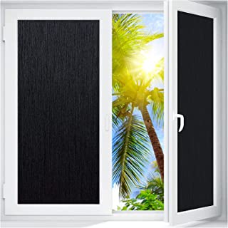 Coavas Blackout Window Film Sun Blocking Silk Privacy Static Cling Glass Sticker Total Cover for Kids Room Darkening Windo...