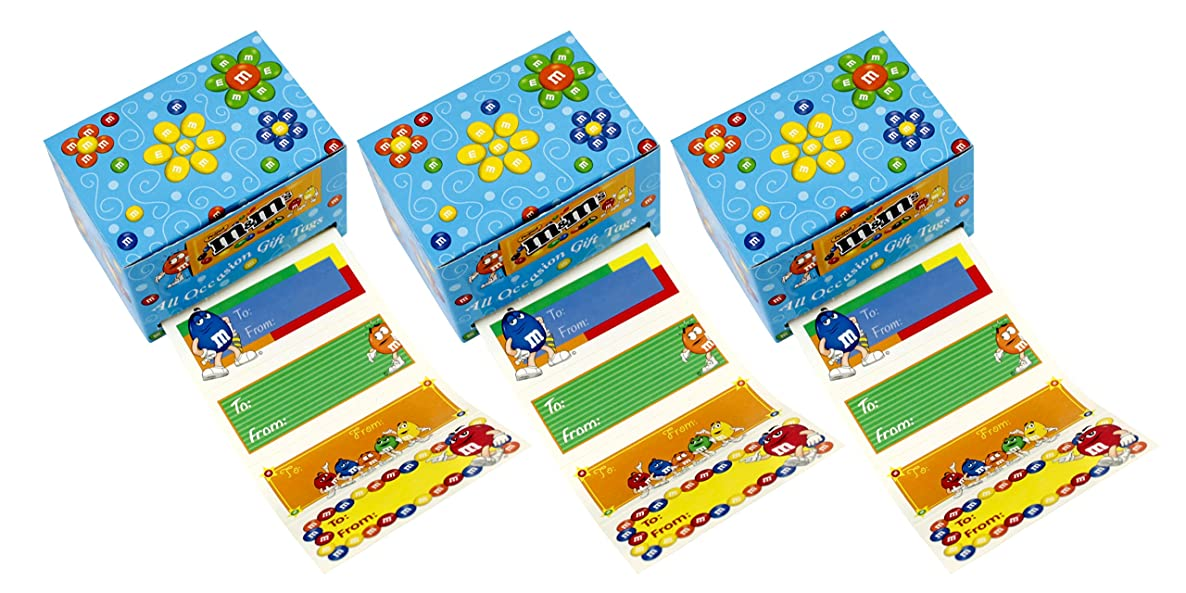 M&M All Occasion Gift Tag Labels - 300 Count