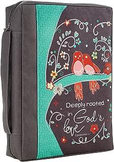 Love Grows Printed Gray Poly-Canvas Bible / Book Cover - Ephesians 3:17 (Medium)