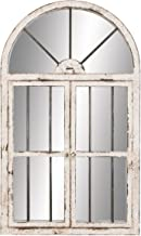 Deco 79 Wood Window Mirror, 42 by 25