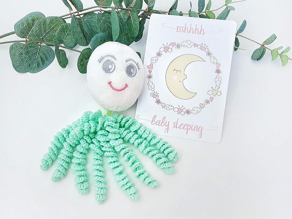 Tags 4 Tots Octoprem Softie Comforting Crochet Octopus for Preemies & Newborns (Mint)