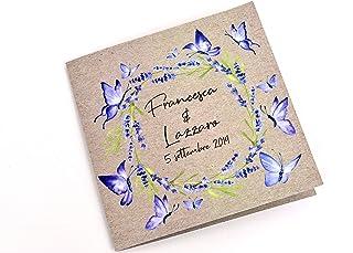 Partecipazioni matrimonio farfalle inviti nozze lavanda 10 pz busta compresa farfalle disponibili in tutti i colori
