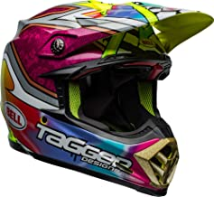 Bell Moto-9 Flex Off-Road Motorcycle Helmet (Tagger Mayhem Gloss Green/Black/White, Large)