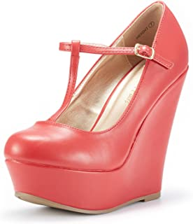 Best red mary jane wedge shoes Reviews