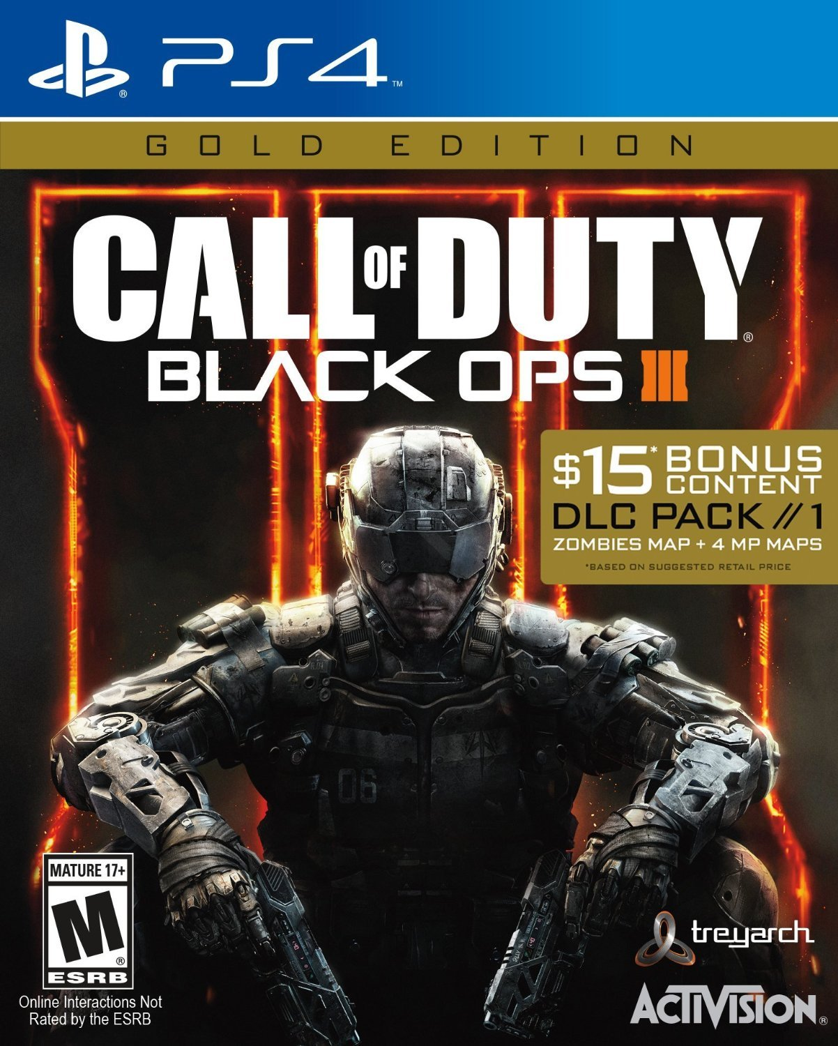 Call 2021 spring and summer new of Duty: Black Ops III Gold 4 PlayStation - Edition half