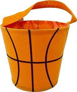 Halloween Basket - Round Bucket Bag for Toys - Storage Bucket - Basketball