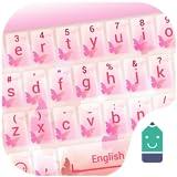Pink Butterfly Theme&Emoji Keyboard