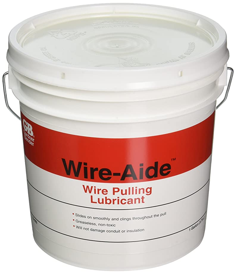 Gardner Bender 79-002 Wire-Aide Wire Pulling Lubricant, Greaseless Fiber-Optic Wire Insulation, 1 Gal. Jug, Yellow
