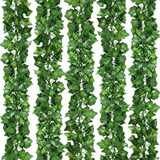 CEWOR 36pcs 236 Feet Artificial Ivy Hanging Plants Fake Vine Leaves for Home Garden Wall Wedding Decoration