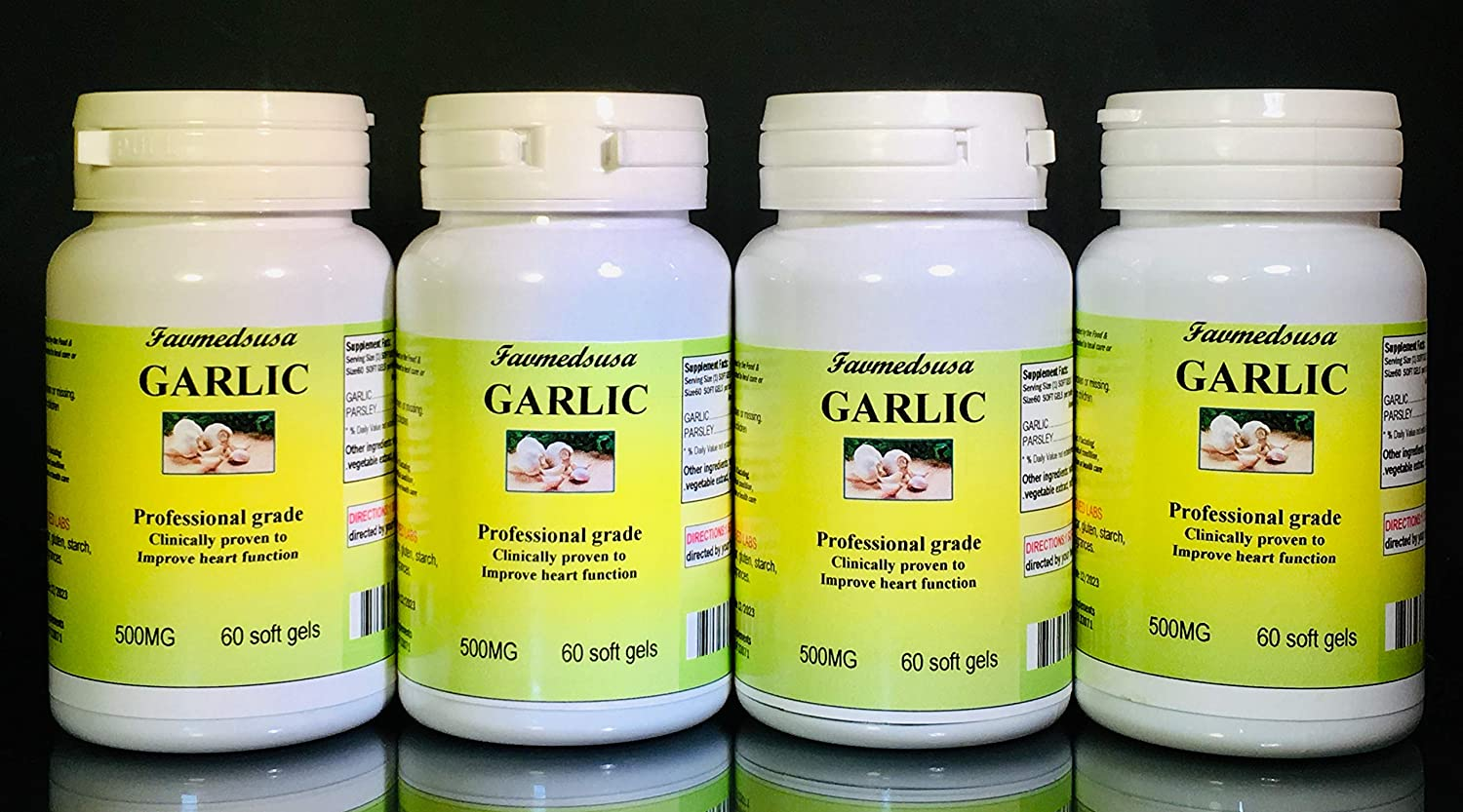 Garlic Parsley Made in USA 240 Max 90% OFF Department store - 4x60 softgels