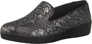 FITFLOP Women's Audrey Python Print Smoking Slippers Loafer Flat