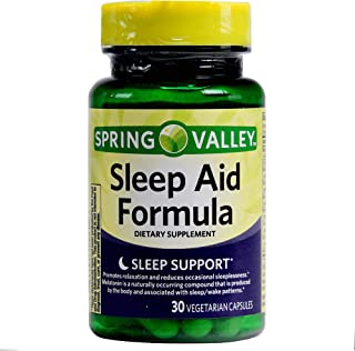 Spring Valley Sleep Aid Formula Melatonin, 30 Vegetarian Capsules (Pack of 2)