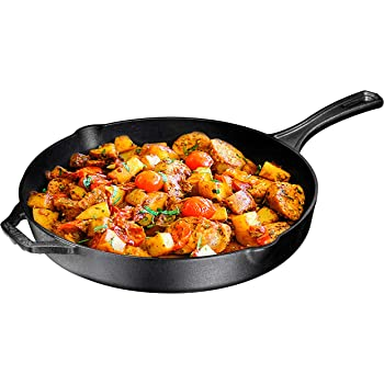 Pre-Seasoned Cast Iron Skillet, Non-Stick,12 inch Frying Pan - Skillet Pan For Stovetop, Oven Use & Outdoor Camping