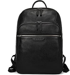 BOSTANTEN Men Leather Backpack 15.6 inch Laptop Backpack Travel College Bag
