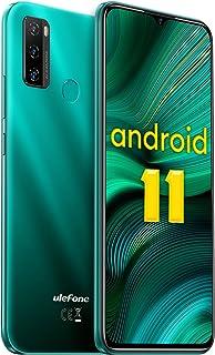 Ulefone Note 10 Android 11 Handys - 4G Smartphone ohne Vertrag Octa-Core 2+32GB(auf 128GB erweitern) 6,52-Zoll-Bildschirm 8+2+2MP Hauptkameras Gesichtsentsperrung/Fingerabdruck-ID/OTG (Grün)
