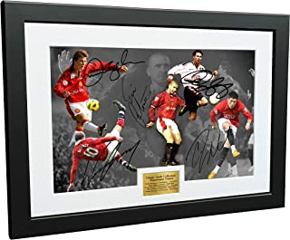 Kitbags & Lockers 12x8 A4 Signed Classic Goals Collection Cantona-Ronaldo-Beckham-Giggs-Rooney- Autographed Manchester United Photo Frame Photograph Picture Gift